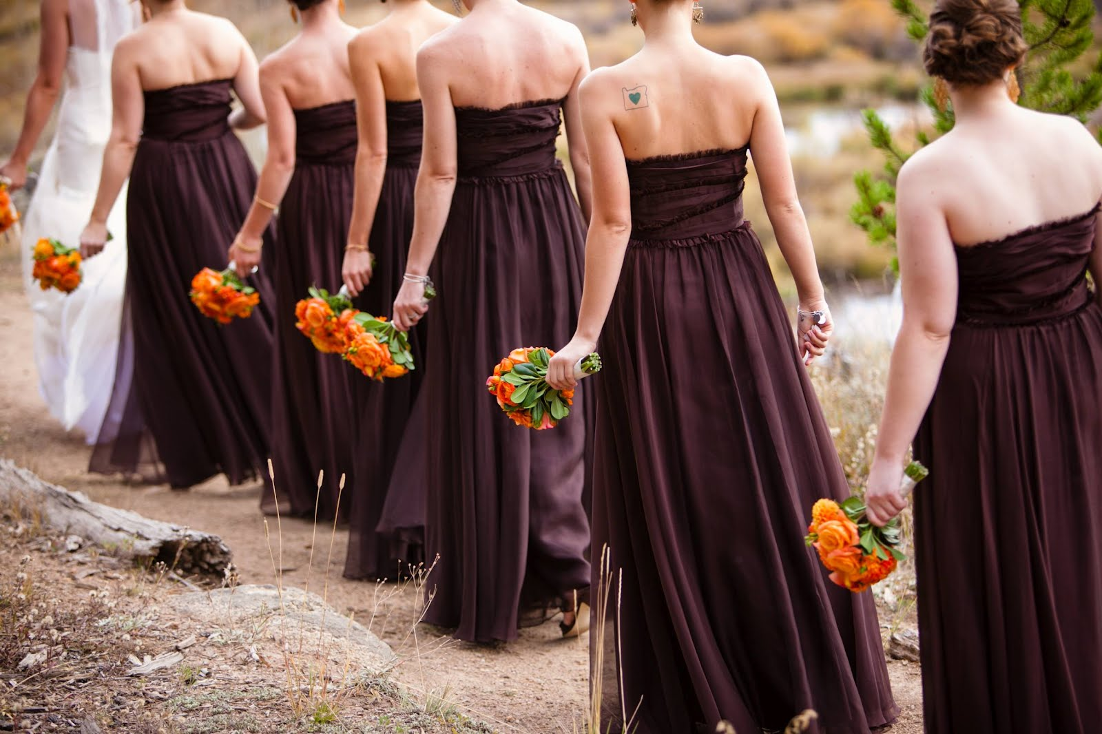 Visual inspiration fall weddings something old for October wedding bridesmaid dresses